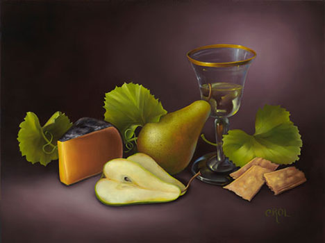 Wine Time by Cheryle Rol