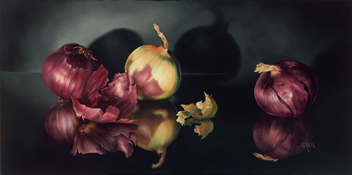 Onions Red and White by Cheryle Rol