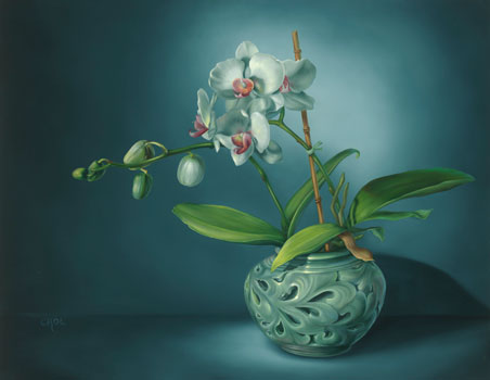 Korean White Orchid by Cheryle Rol