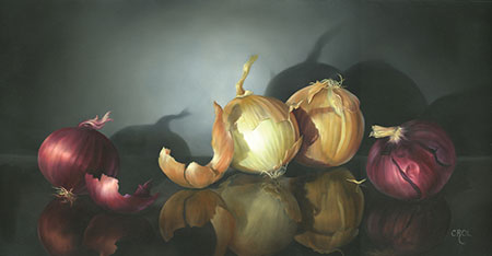 Red & White Onions by Cheri Rol