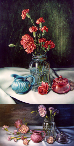 Carnations in a Ball Jar with Cheri Rol from the Notebook Series