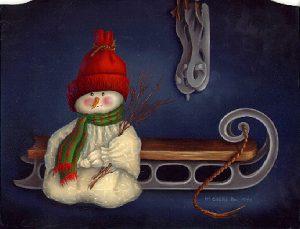 January Calendar Still Life by Cheri Rol