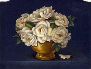 Calendar Still Life - Old World Roses by Cheri Rol