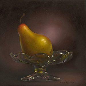 Pear on a Pedastal by Cheri Rol