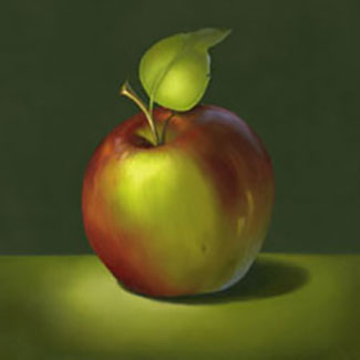 Beginning Oil Apple by Cheri Rol