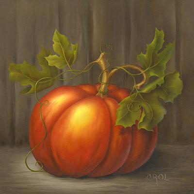 Beginning Oil Pumpkin by Cheri Rol