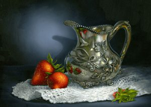 Peggie's Silver and Strawberries by Cheri Rol