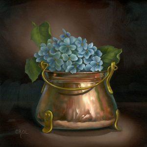Copper and Hydrangeas by Cheri Rol