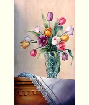 Crystal 'n Tulips by Cheri Rol