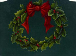 Holly Wreath by Cheri Rol
