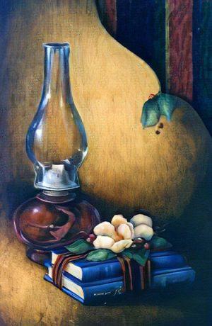 Ruby Lamp Study by Cheri Rol