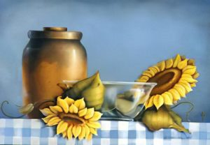 A Sunflower Morning Notebook Study by Cheri Rol