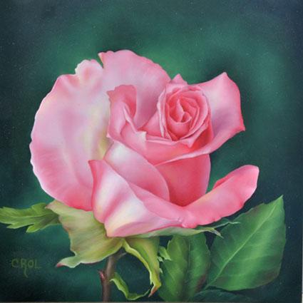 Pink Rose Bud By Cheri Rol