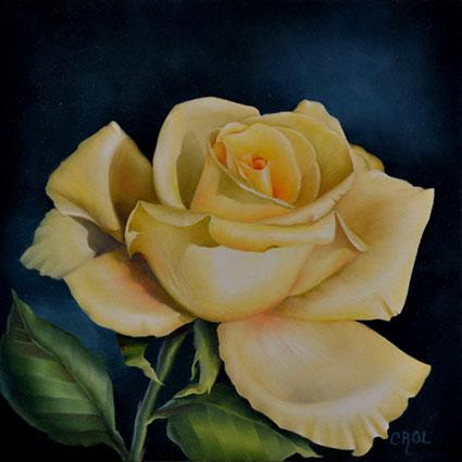 Yellow Rose by Cheri Rol