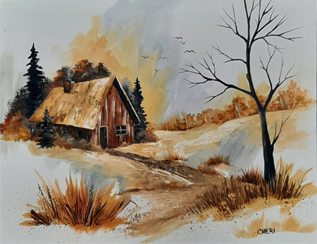 Country Road Vignette by Cheri Rol